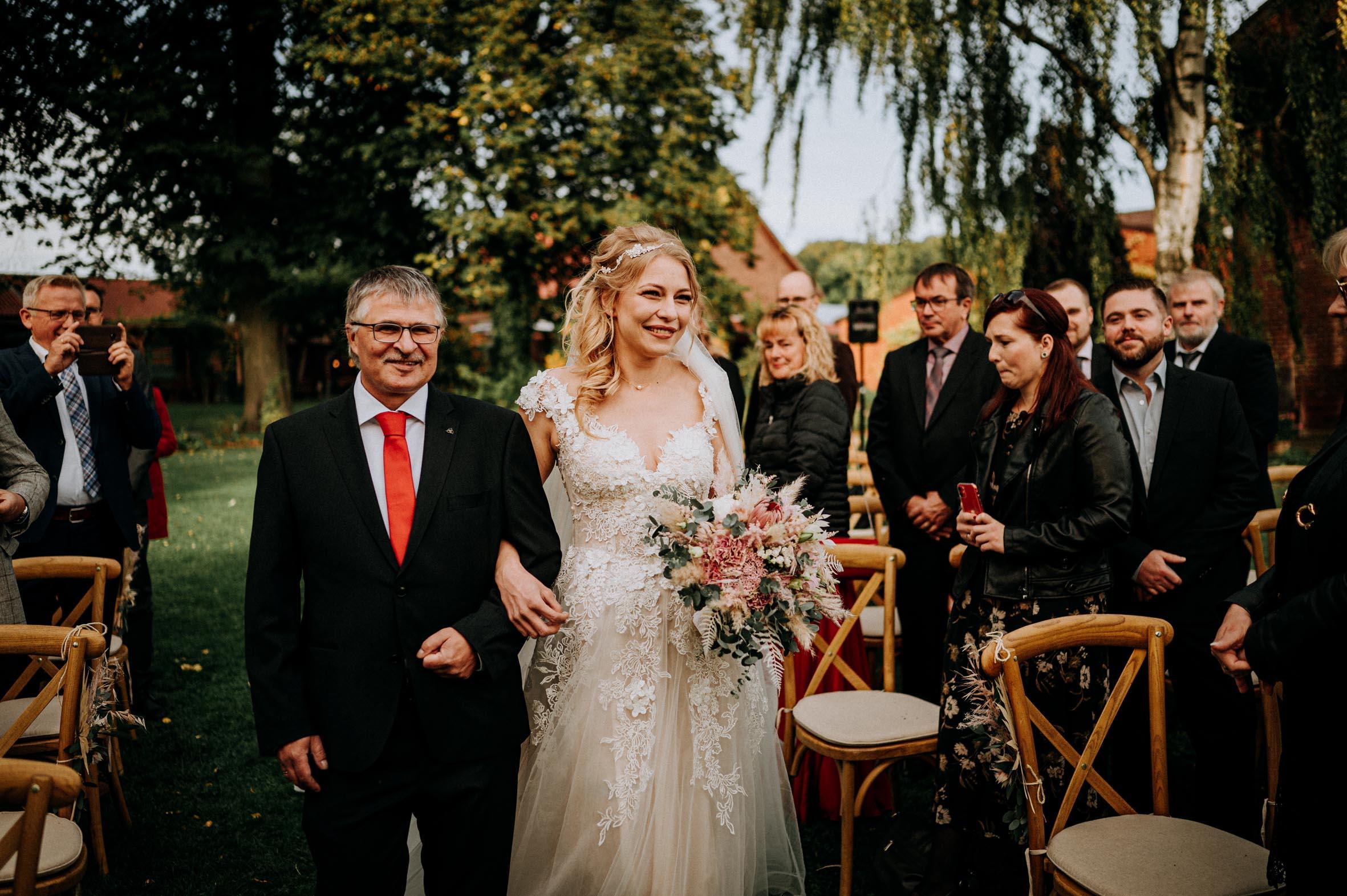 Hochzeitsrednerin Doreen Werding - Die Brautführung durch den stolzen Papa